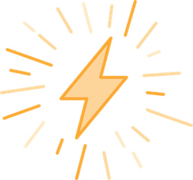Lightning icon yellow